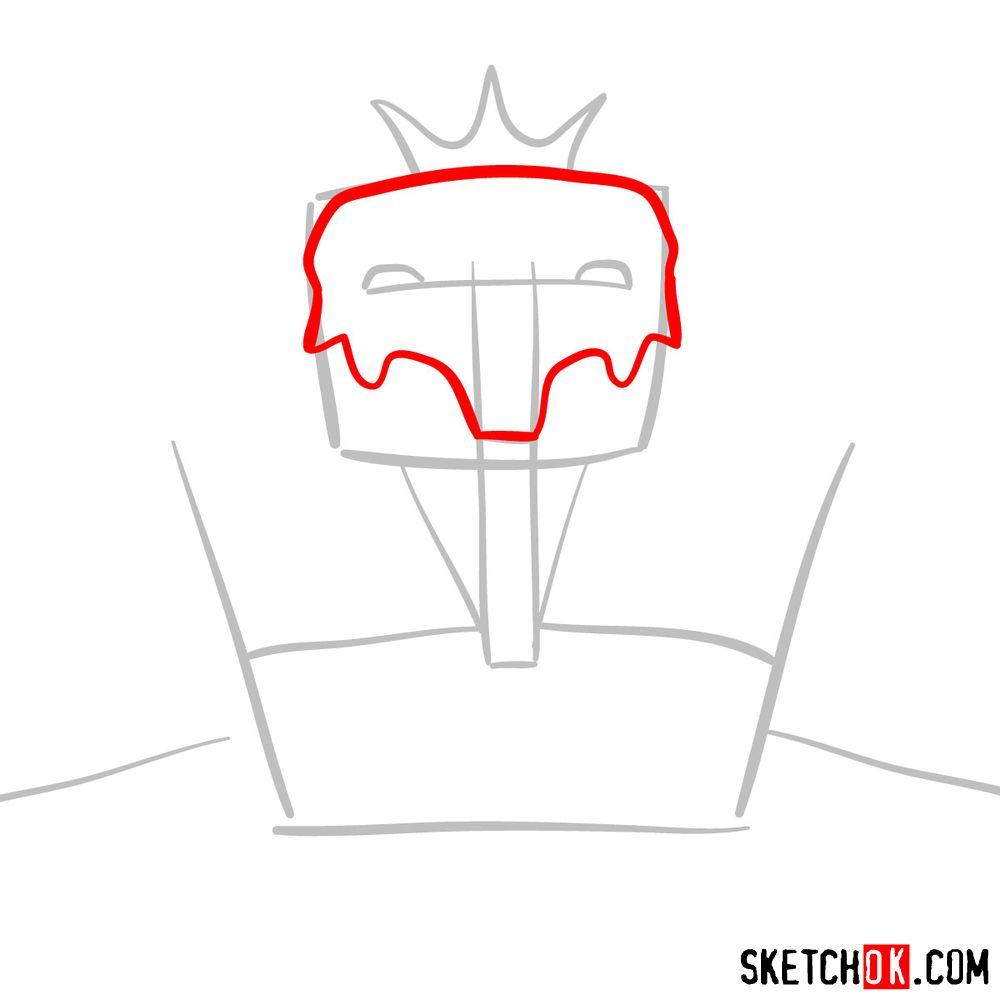 How to draw Deus Ex Machina | Future Diary - step 03