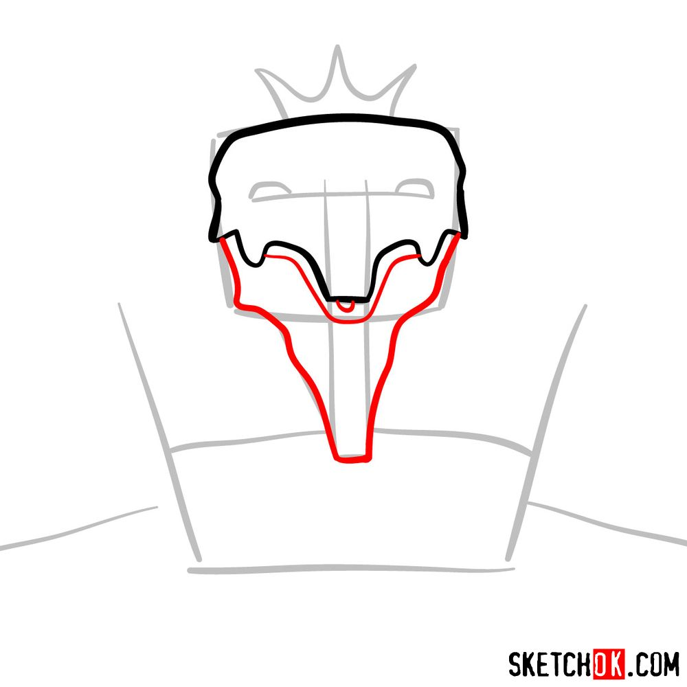 How to draw Deus Ex Machina | Future Diary - step 04