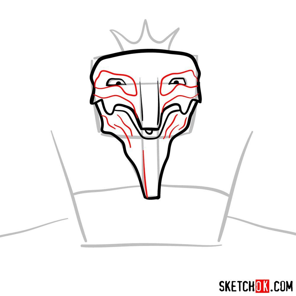 How to draw Deus Ex Machina | Future Diary - step 06