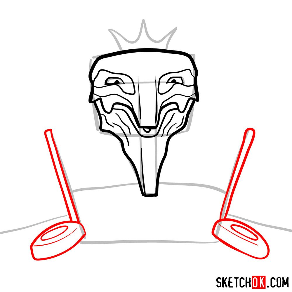 How to draw Deus Ex Machina | Future Diary - step 07