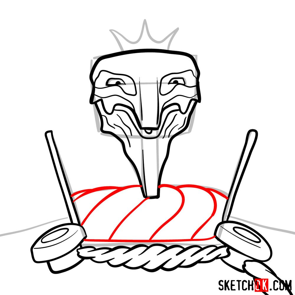 How to draw Deus Ex Machina | Future Diary - step 09