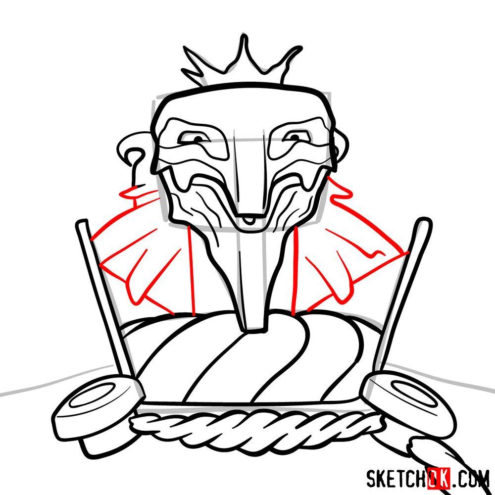 How to draw Deus Ex Machina | Future Diary - step 11