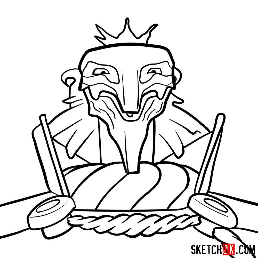 How to draw Deus Ex Machina | Future Diary - step 13