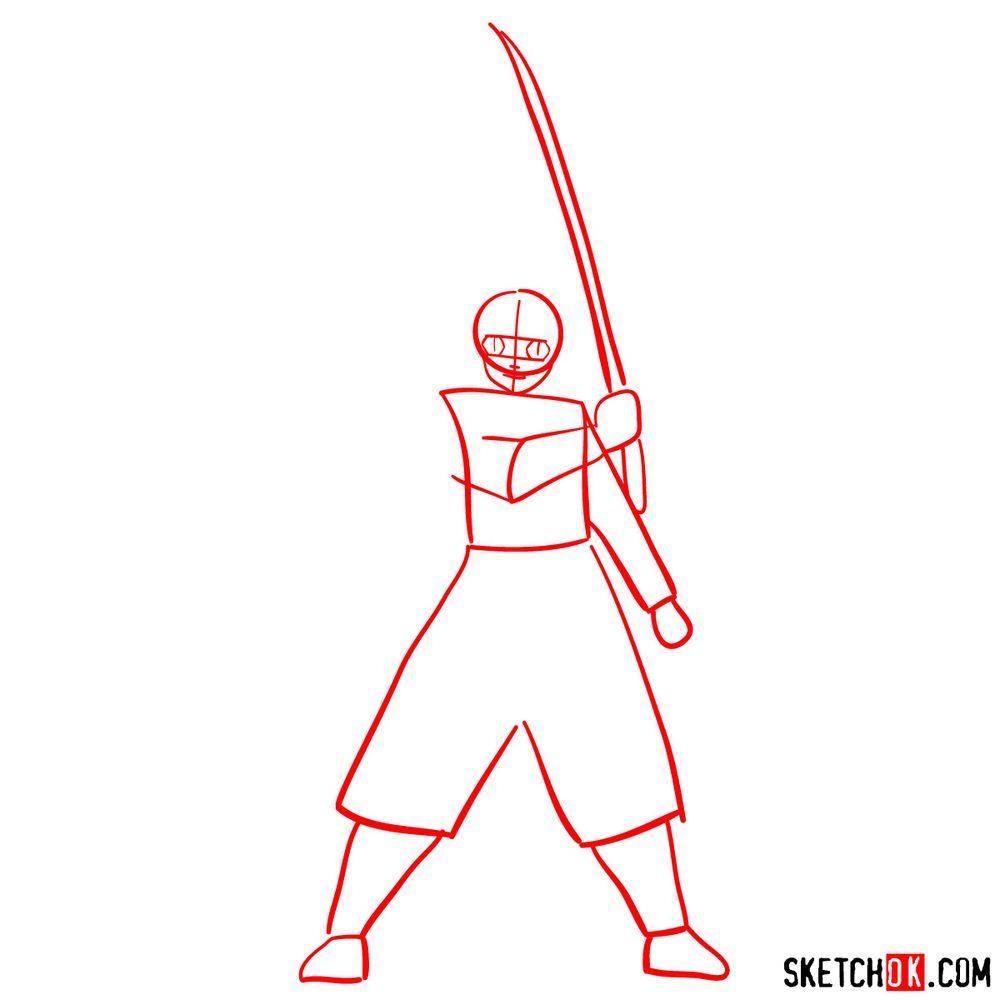 How to draw Tanjiro Kamado   Demon Slayer - step 01