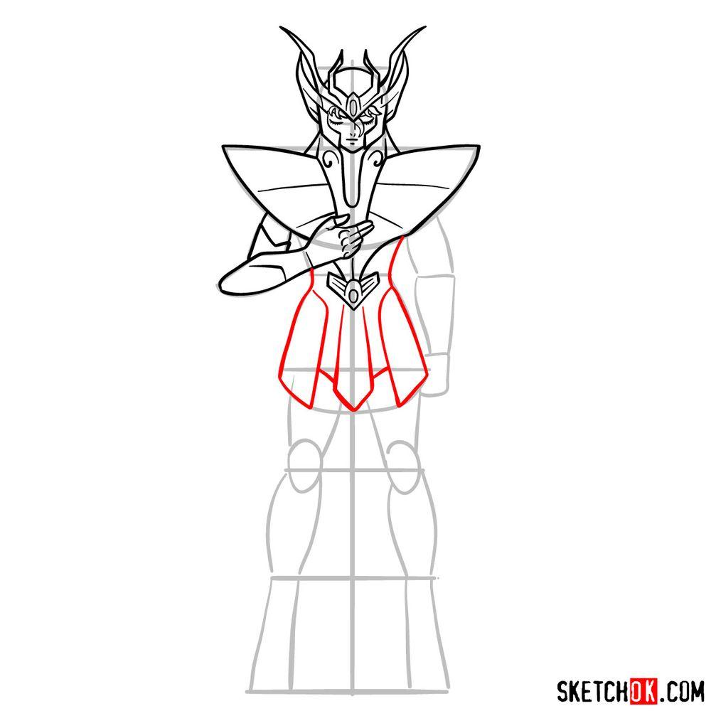 How to draw Virgo Shaka - step 11