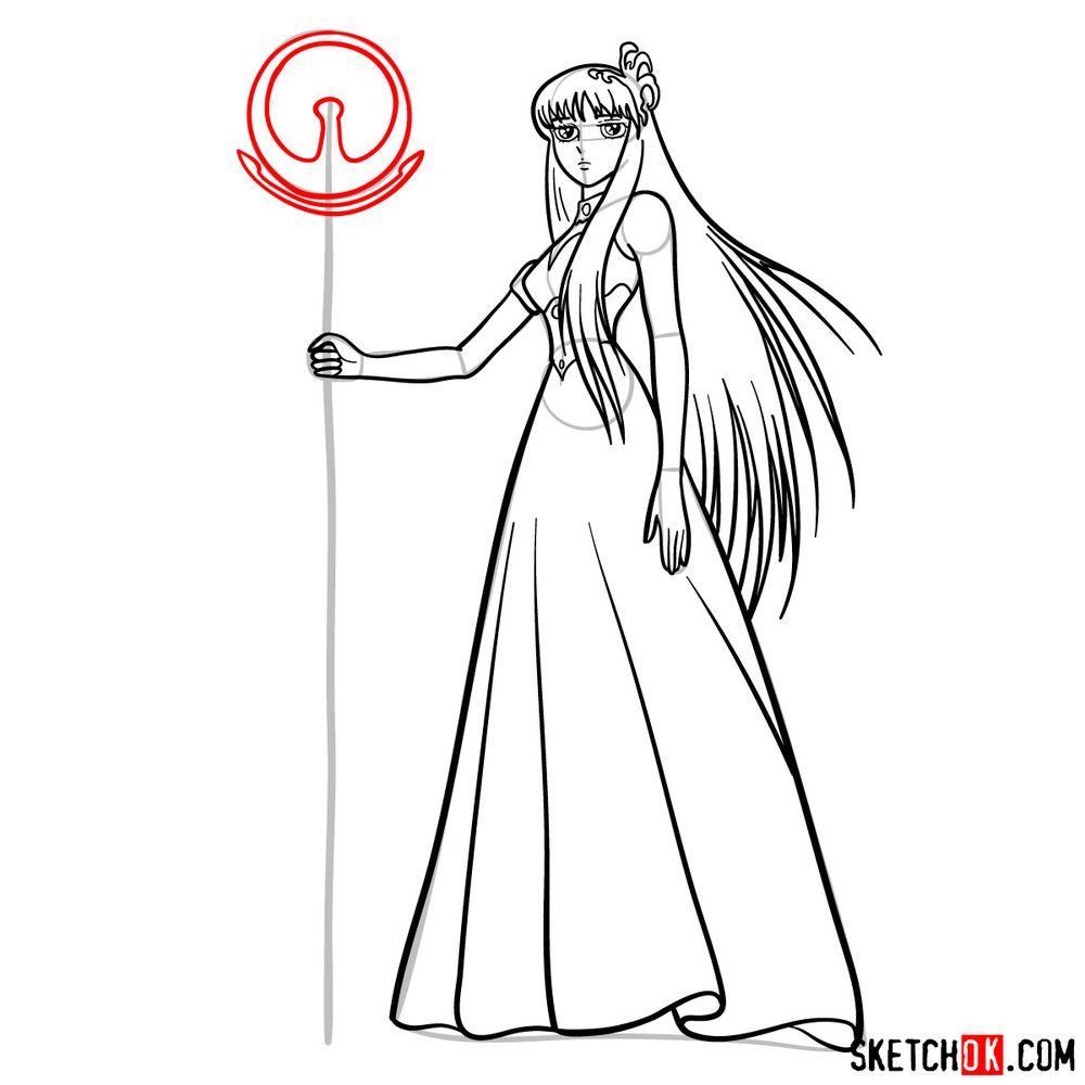 How to draw Saori Kido (Athena) - step 11