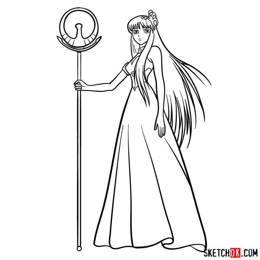 How to draw Saori Kido (Athena) - step 13