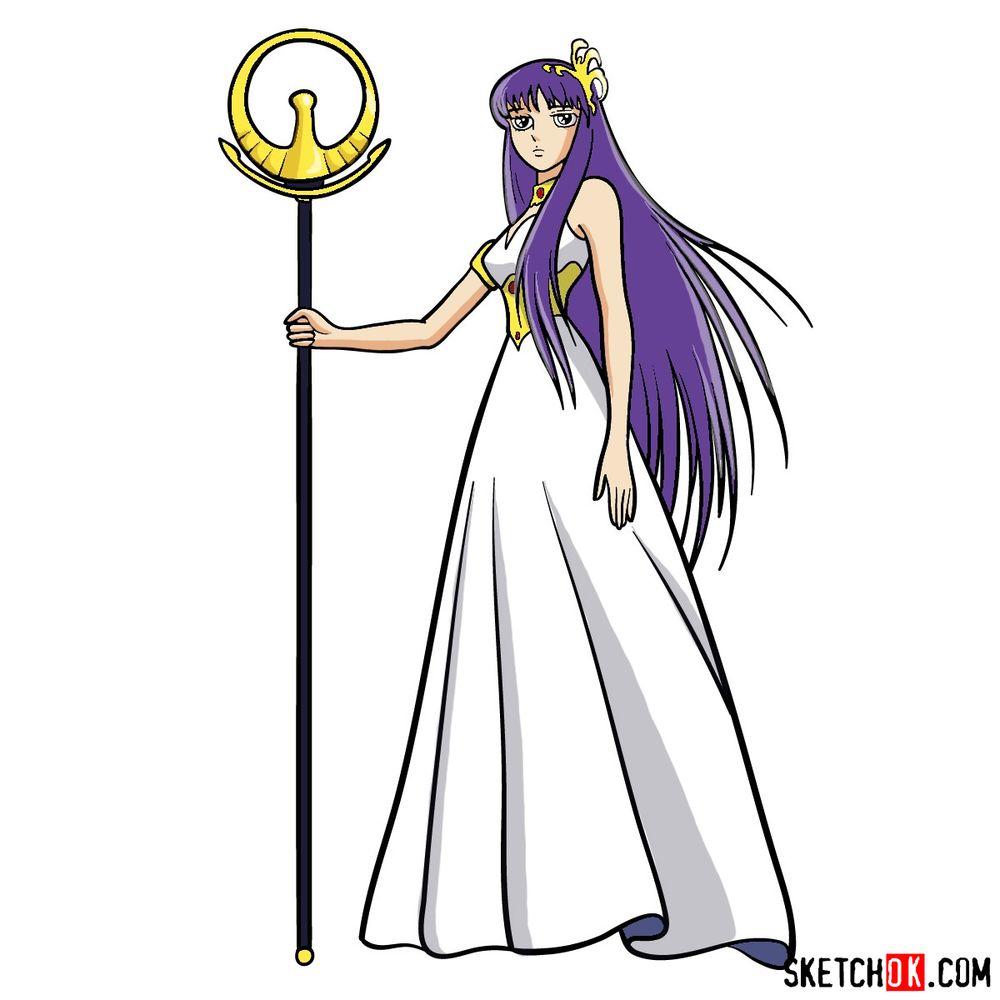 How to draw Saori Kido (Athena)