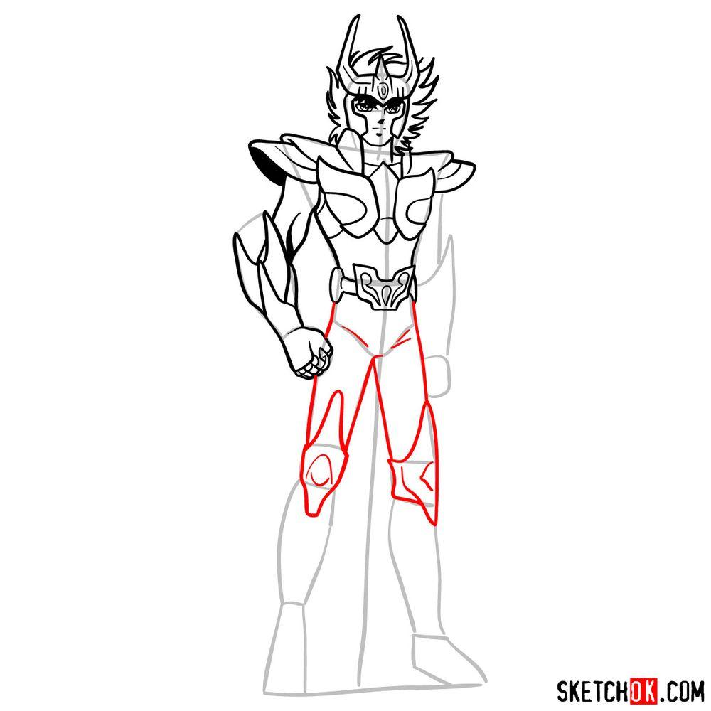 How to draw Phoenix Ikki - step 13