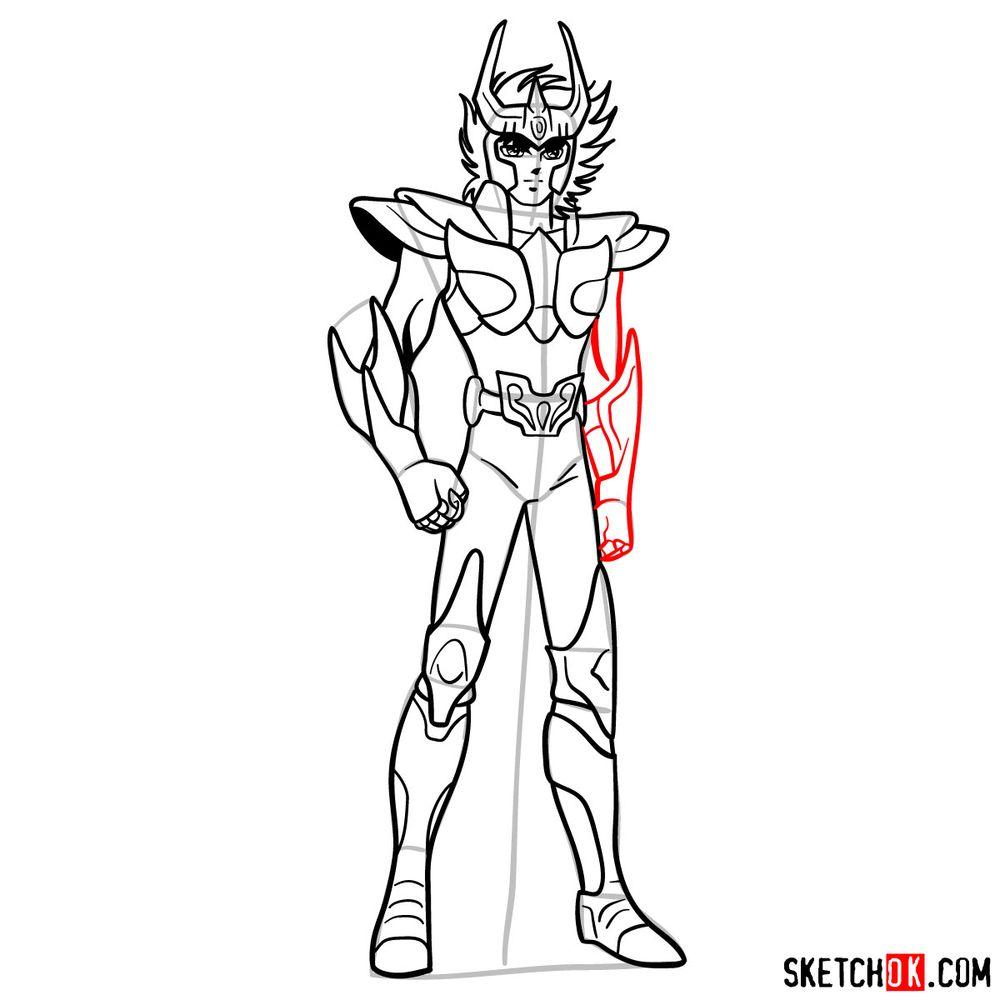 How to draw Phoenix Ikki - step 15