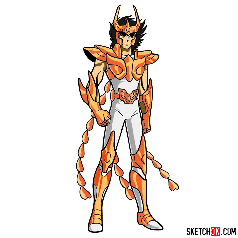 How to draw Phoenix Ikki