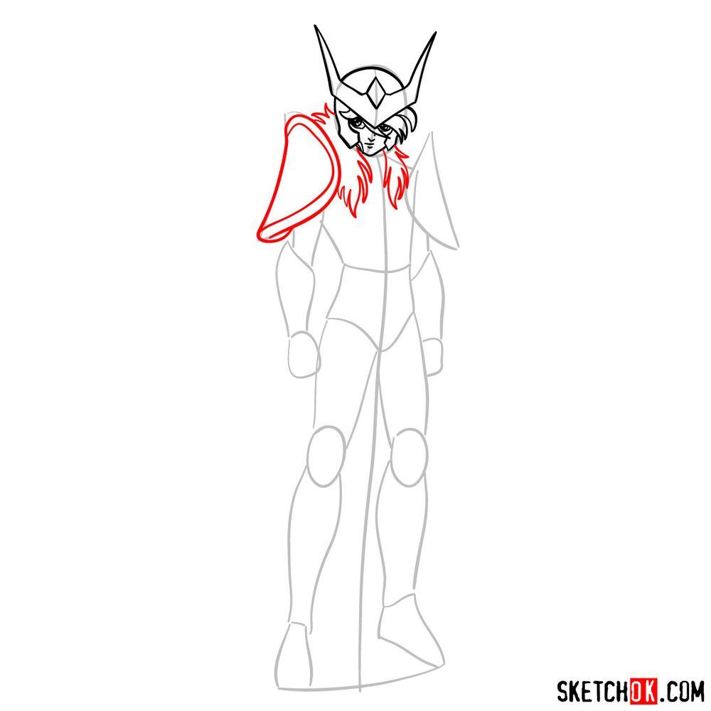 How to draw Andromeda Shun - step 06