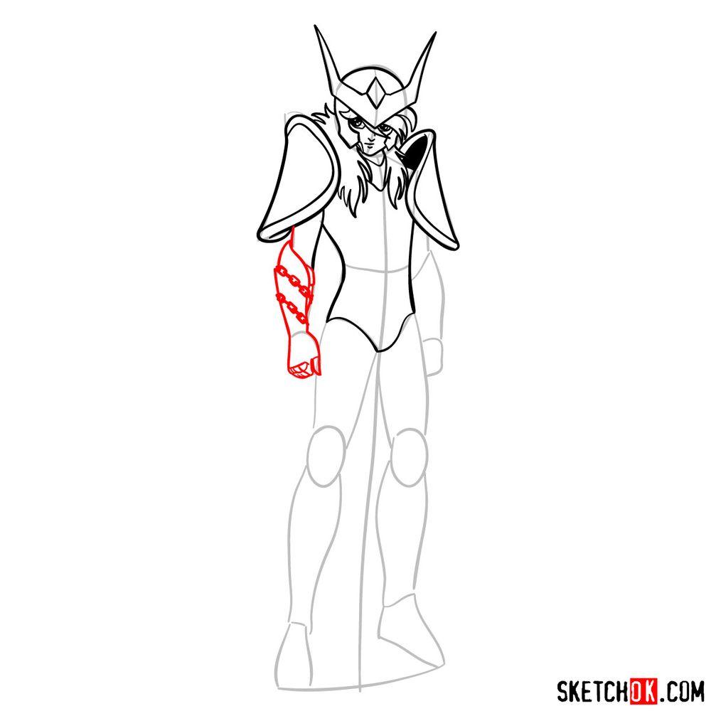 How to draw Andromeda Shun - step 09