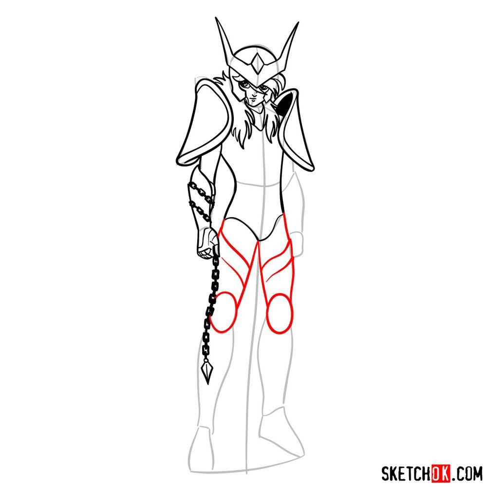 How to draw Andromeda Shun - step 11