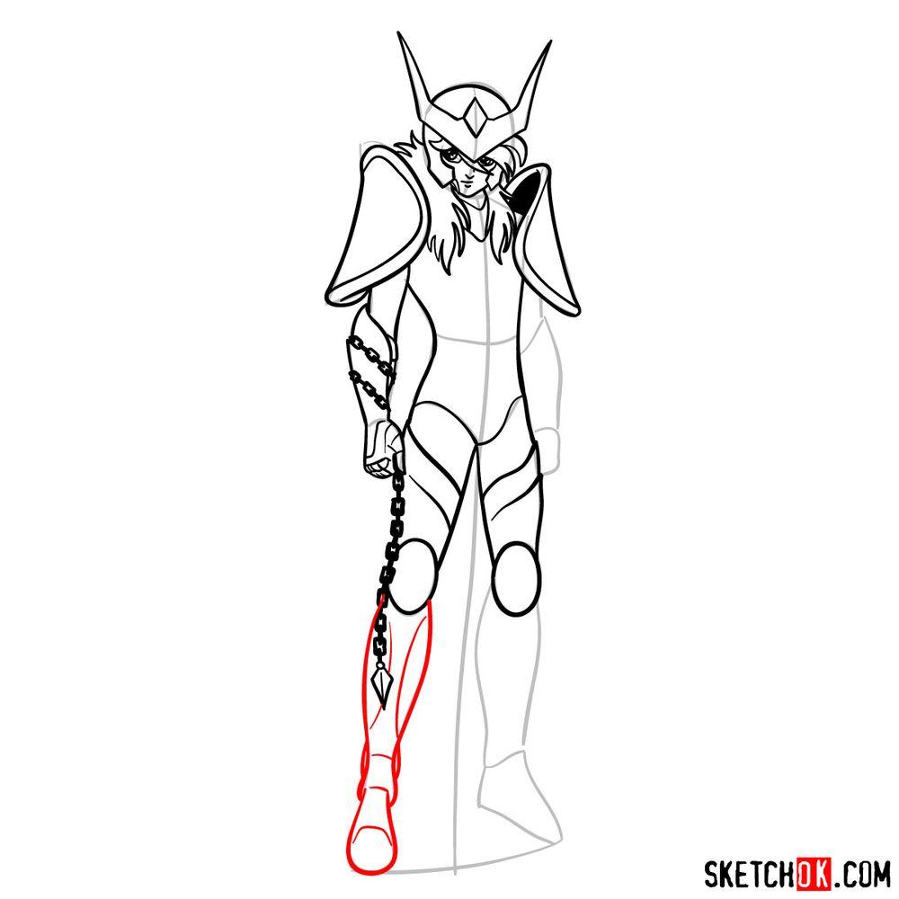How to draw Andromeda Shun - step 12