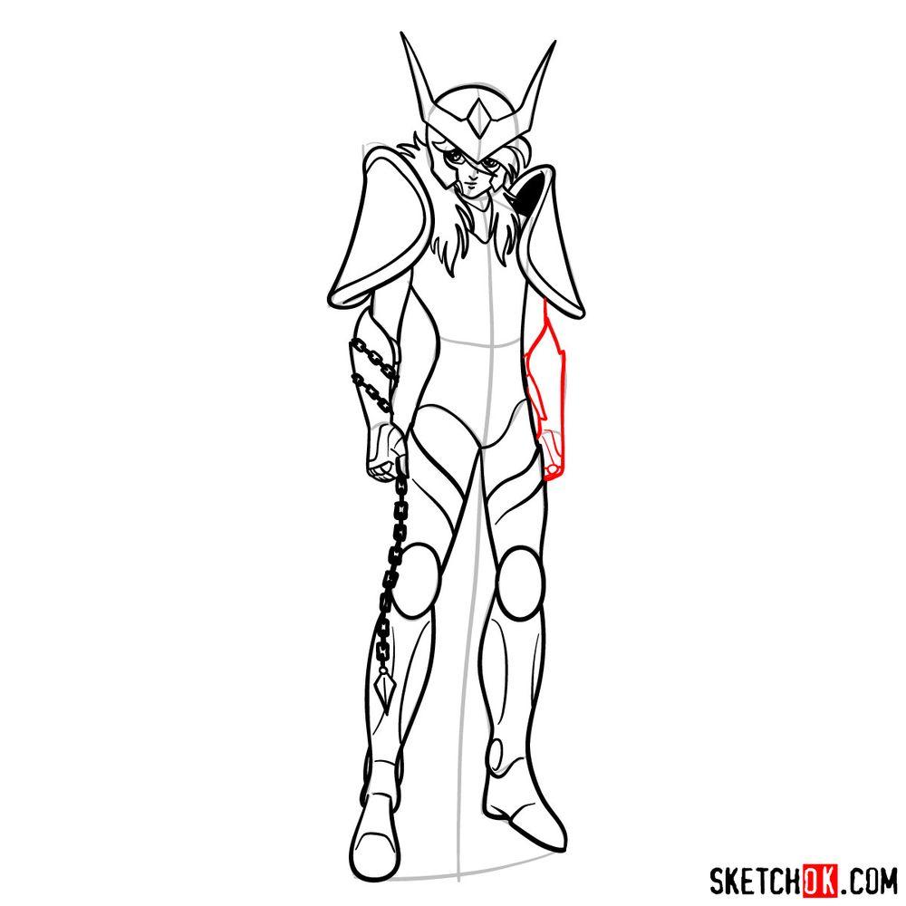 How to draw Andromeda Shun - step 14