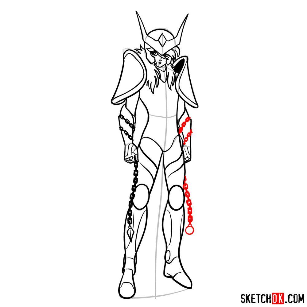 How to draw Andromeda Shun - step 15