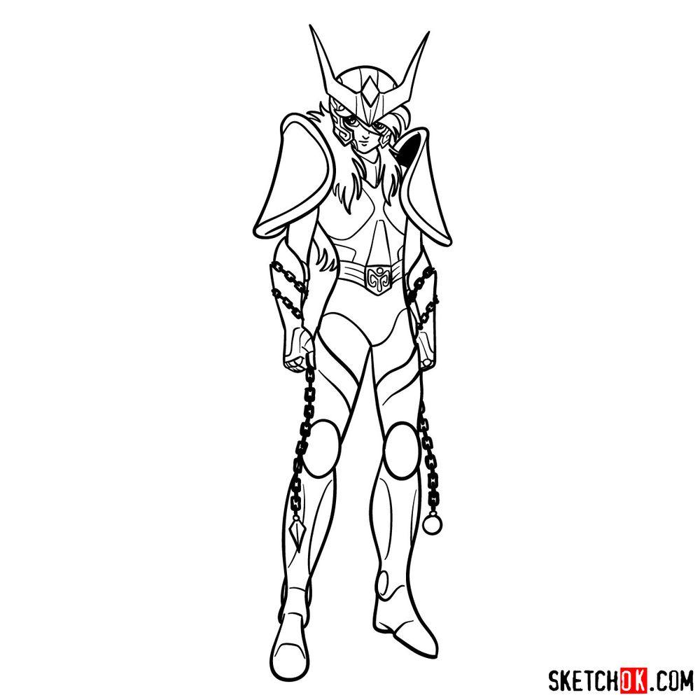 How to draw Andromeda Shun - step 18