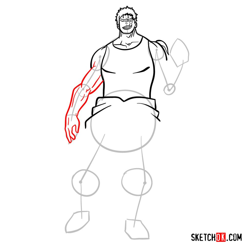 How to draw Muscular - step 10