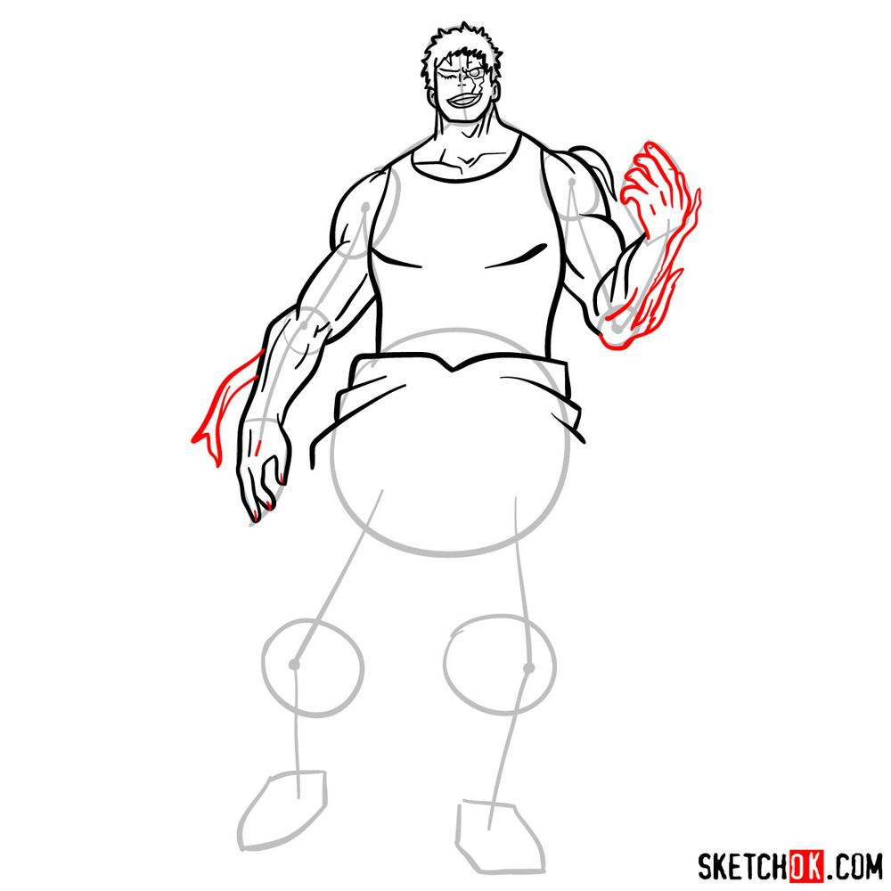 How to draw Muscular - step 12