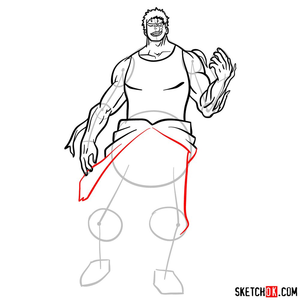 How to draw Muscular - step 13