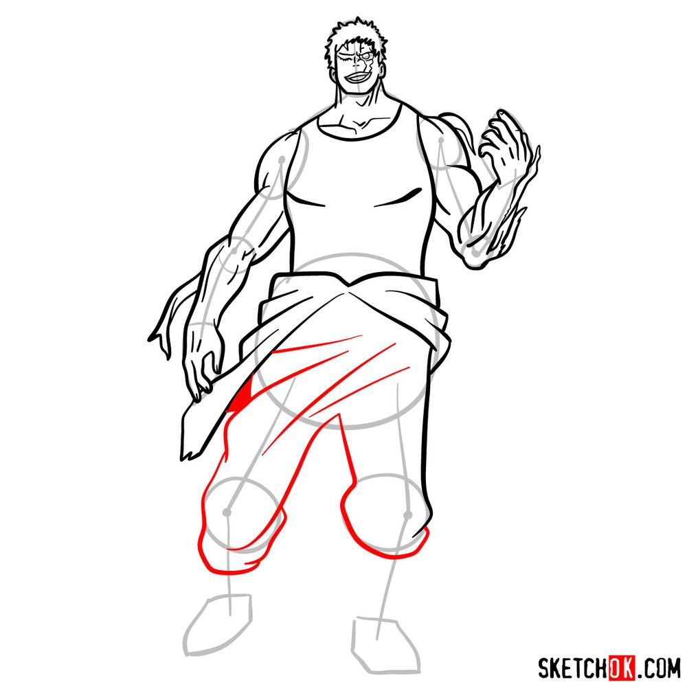 How to draw Muscular - step 14