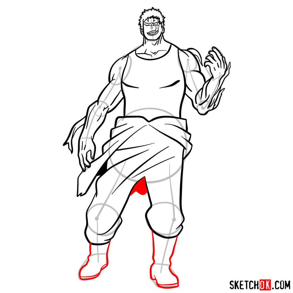 How to draw Muscular - step 15