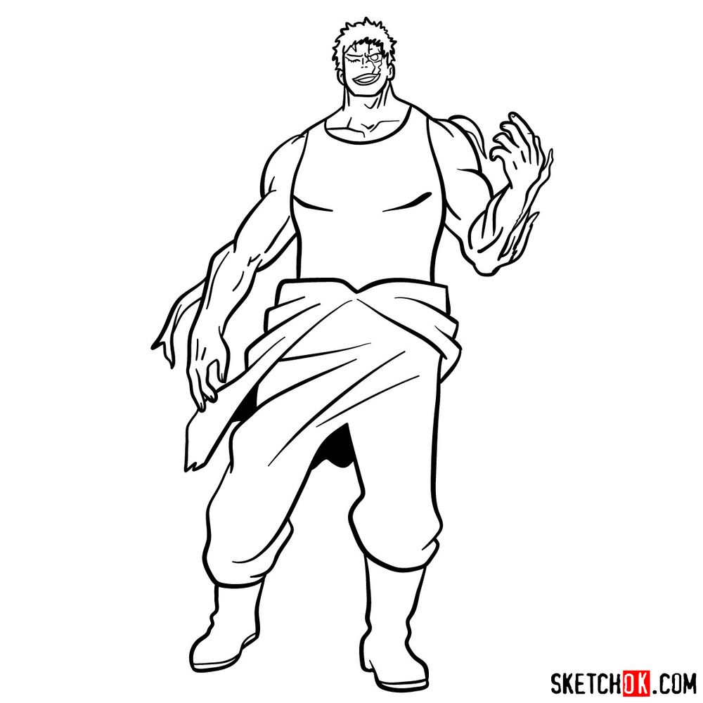 How to draw Muscular - step 16