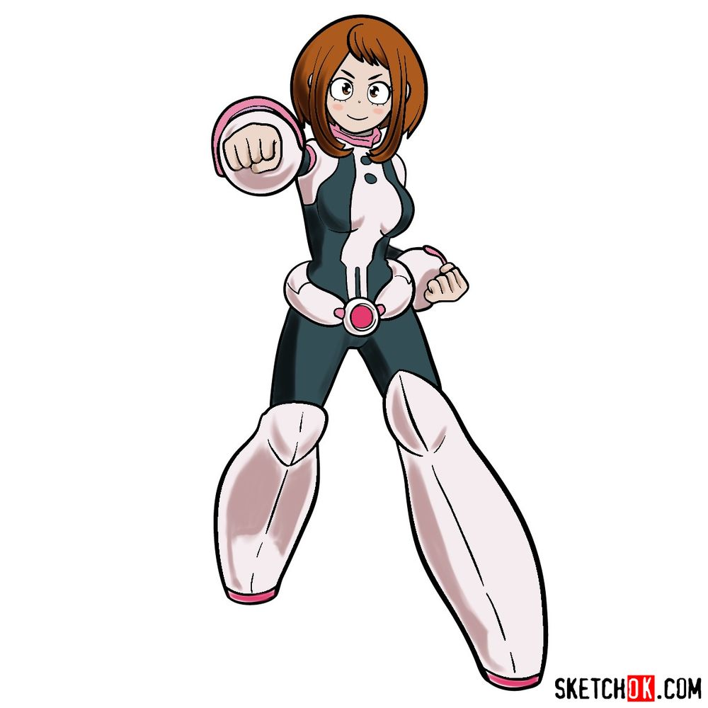 How to draw Ochaco Uraraka in her hero costume