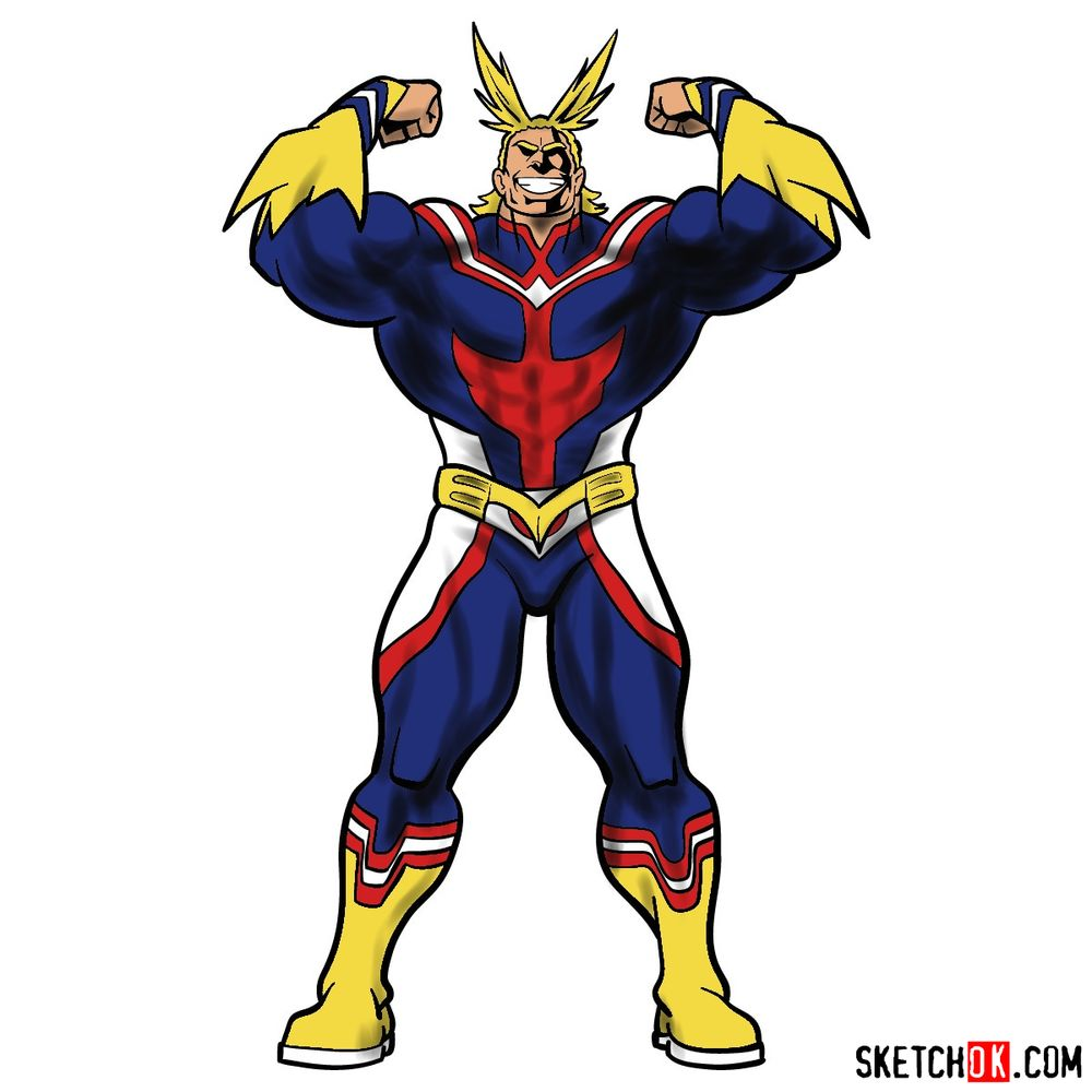 How to draw All Might (Toshinori Yagi)