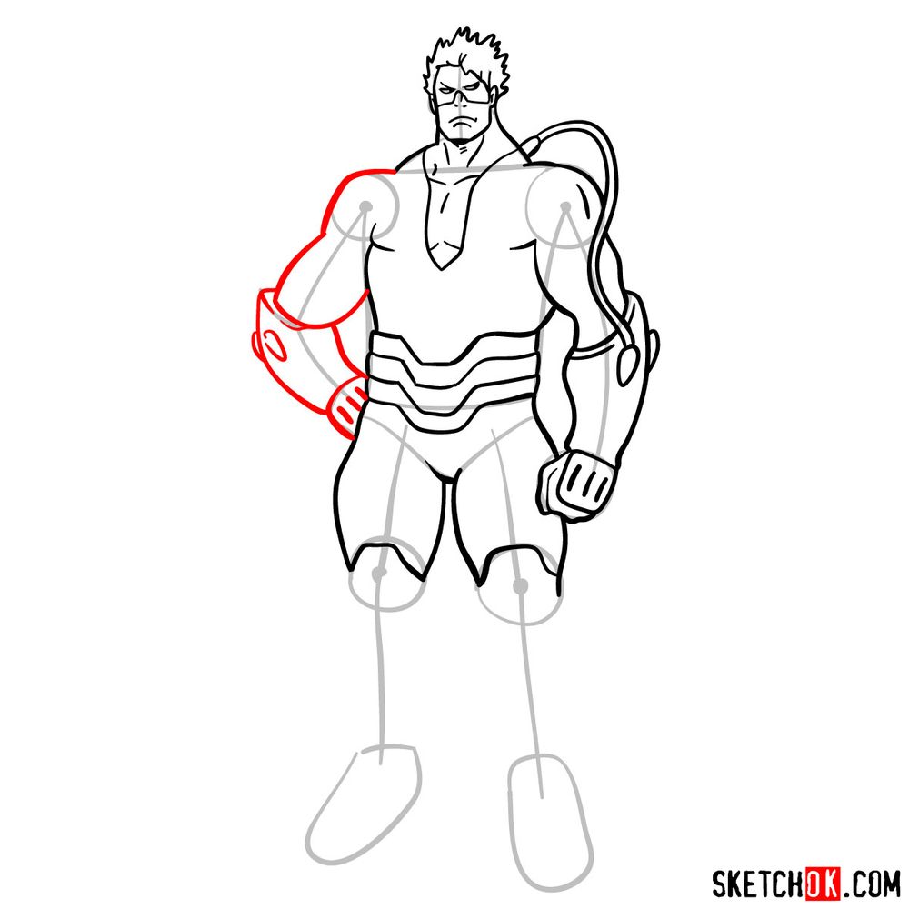 How to draw Vlad King - step 11