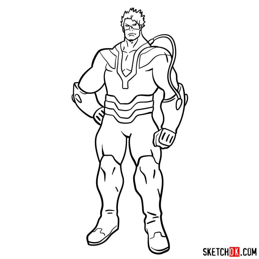 How to draw Vlad King - step 14