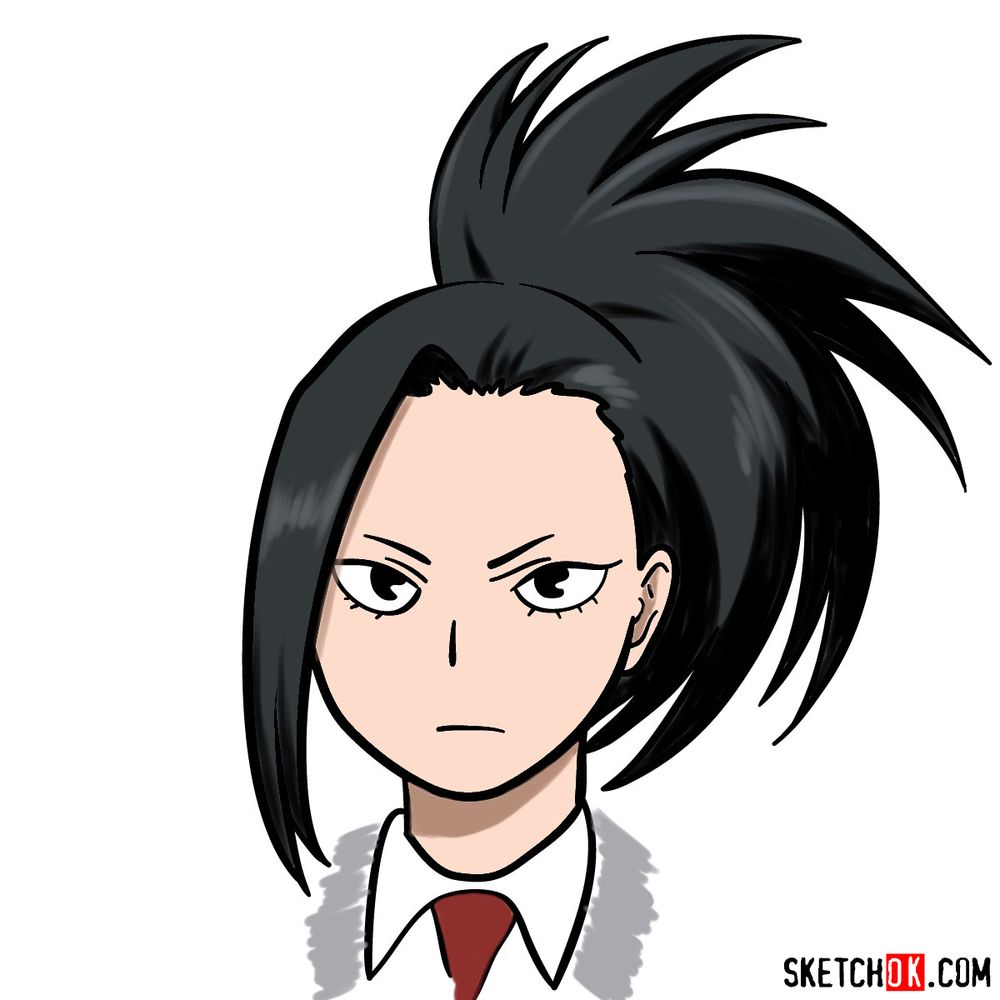 How to draw Momo Yaoyorozu's face