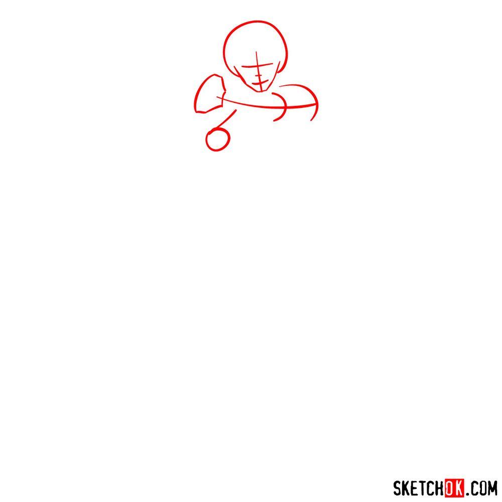 How to draw Dabi - step 01