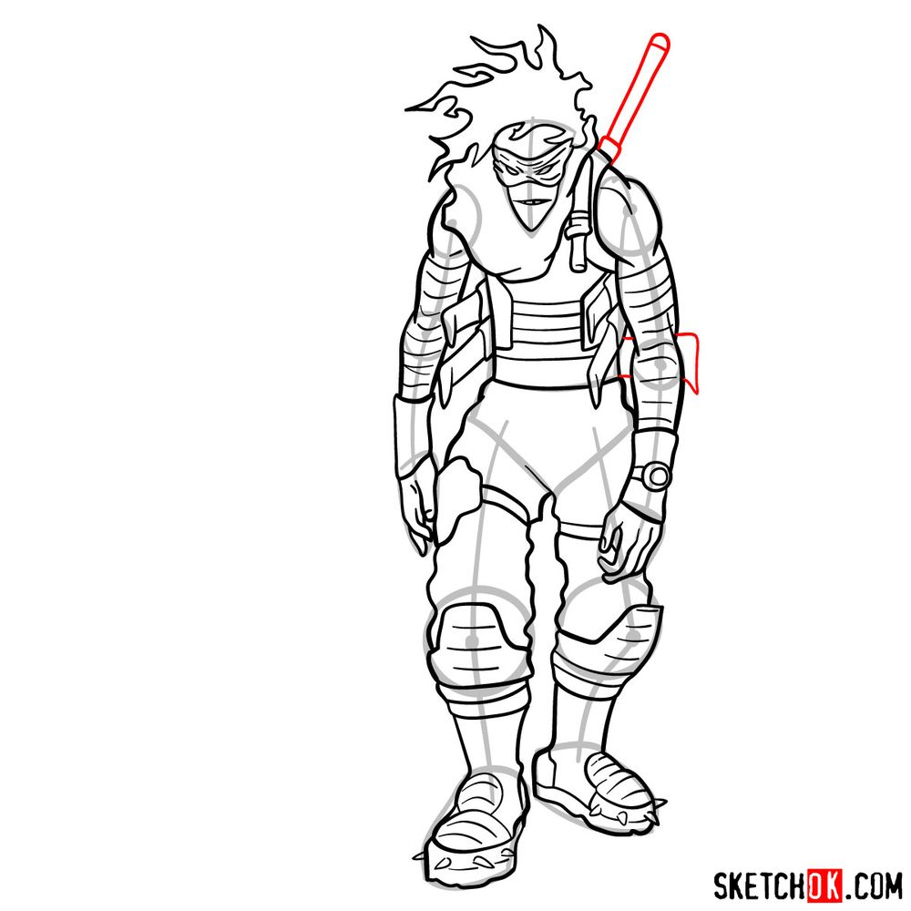 How to draw Stain (My Hero Academia) - step 18