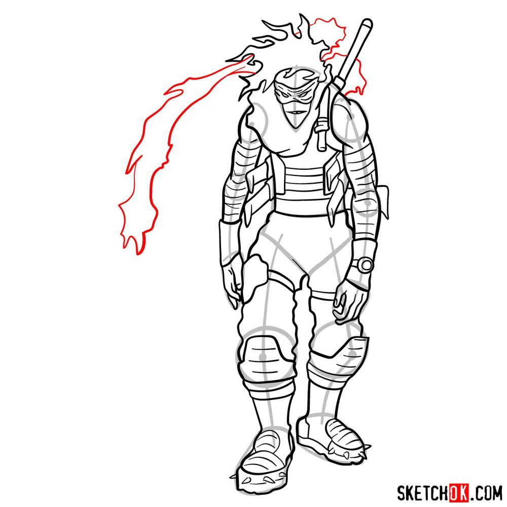 How to draw Stain (My Hero Academia) - step 19