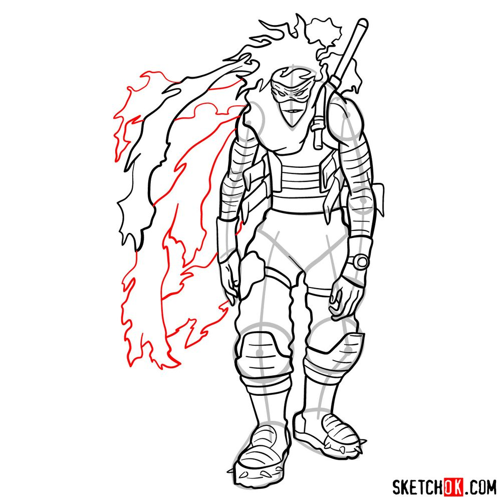 How to draw Stain (My Hero Academia) - step 20