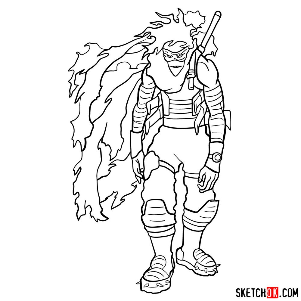How to draw Stain (My Hero Academia) - step 21