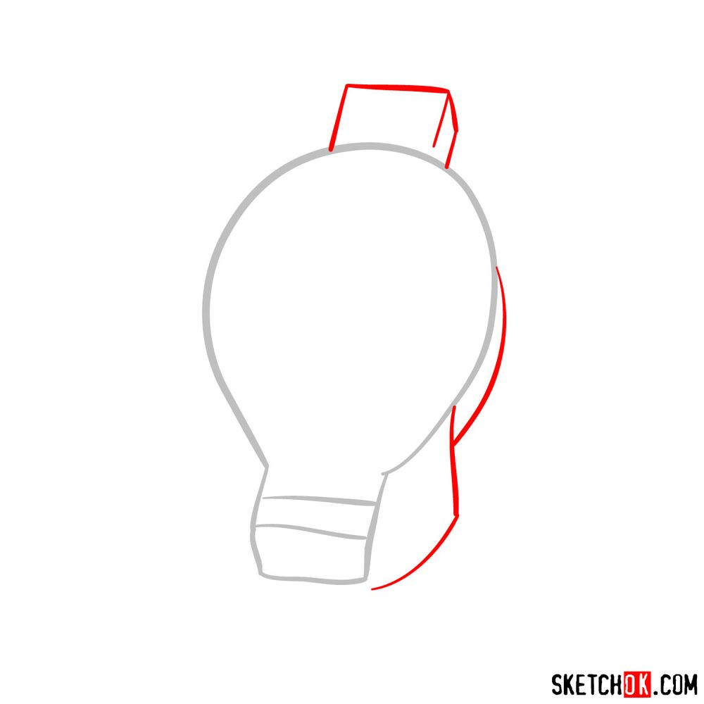 How to draw Tomura Shigaraki's head - step 02