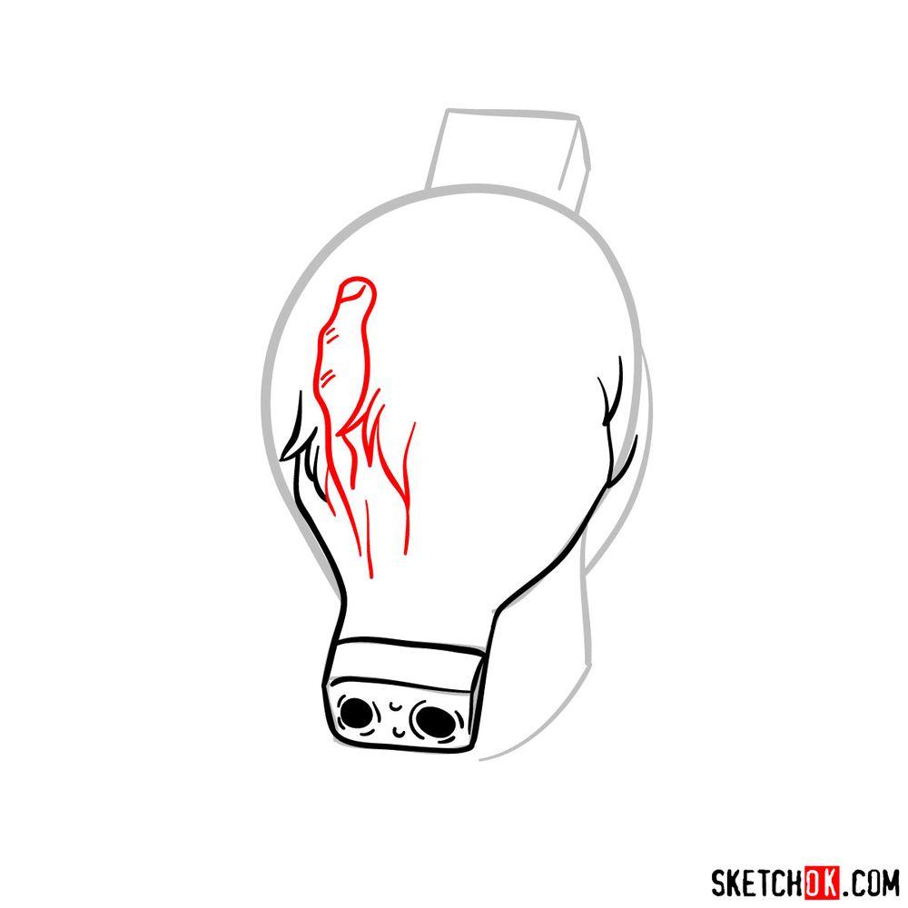 How to draw Tomura Shigaraki's head - step 05
