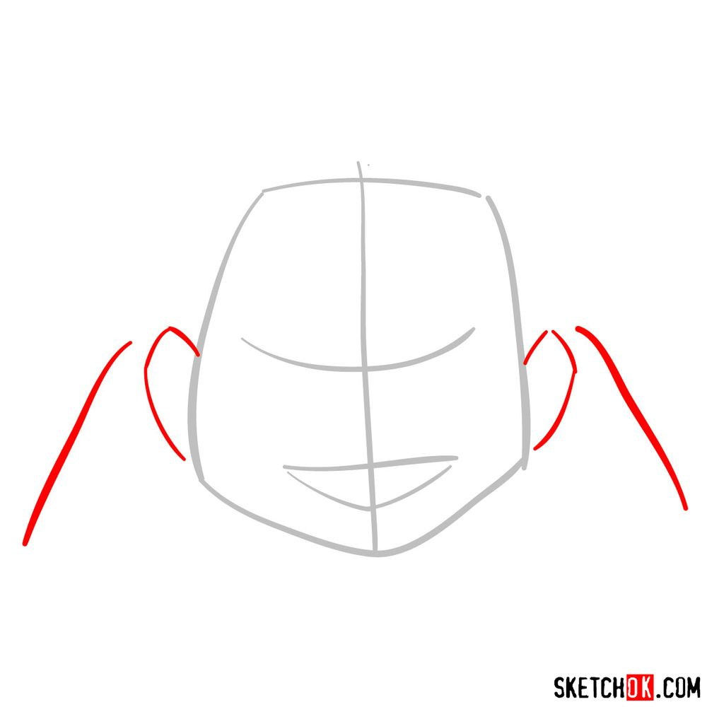 How to draw Gran Torino's face | My Hero Academia - step 02