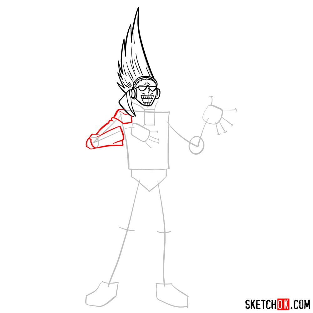 How to draw Present Mic - step 07