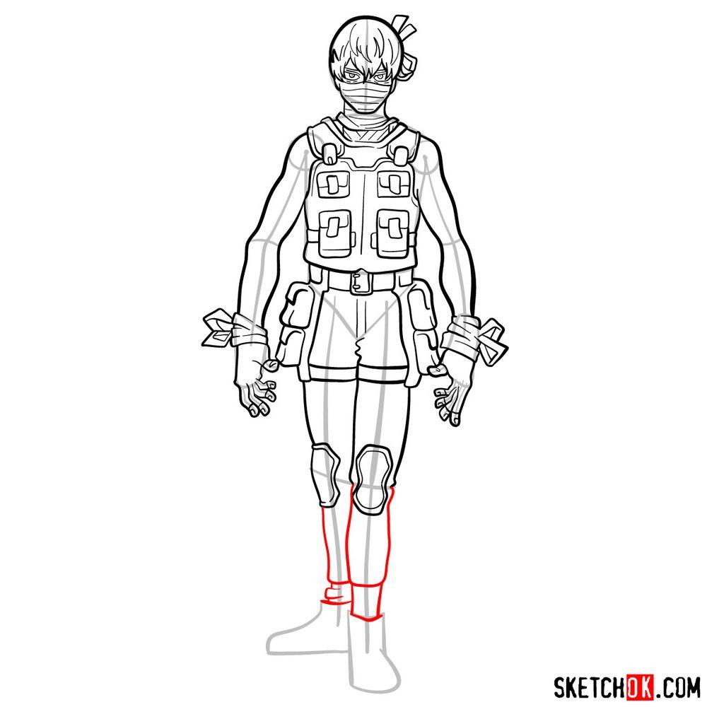 How to draw Hoyo Makihara - step 14