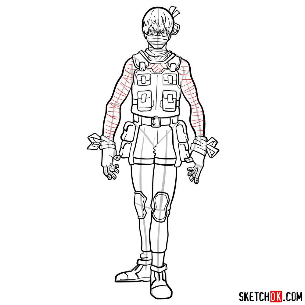 How to draw Hoyo Makihara - step 16
