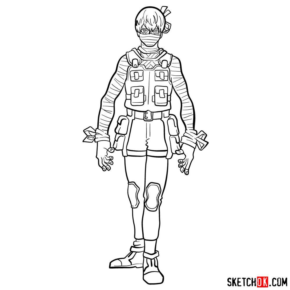 How to draw Hoyo Makihara - step 17