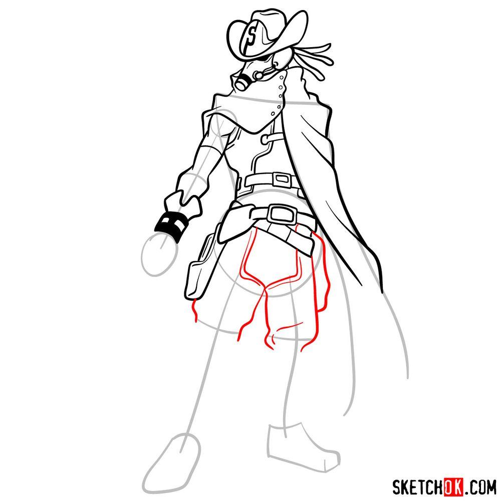 How to draw Snipe   My Hero Academia - step 12