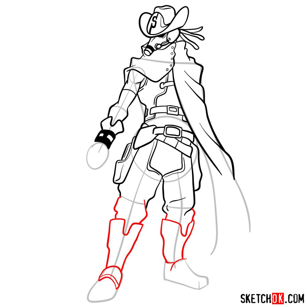 How to draw Snipe | My Hero Academia - step 13