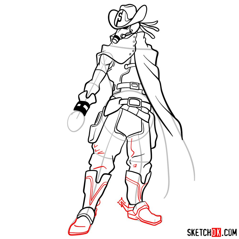 How to draw Snipe   My Hero Academia - step 14