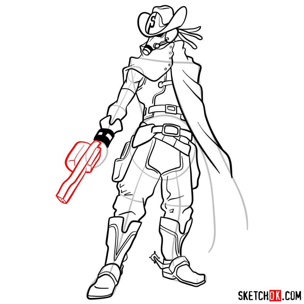 How to draw Snipe   My Hero Academia - step 15