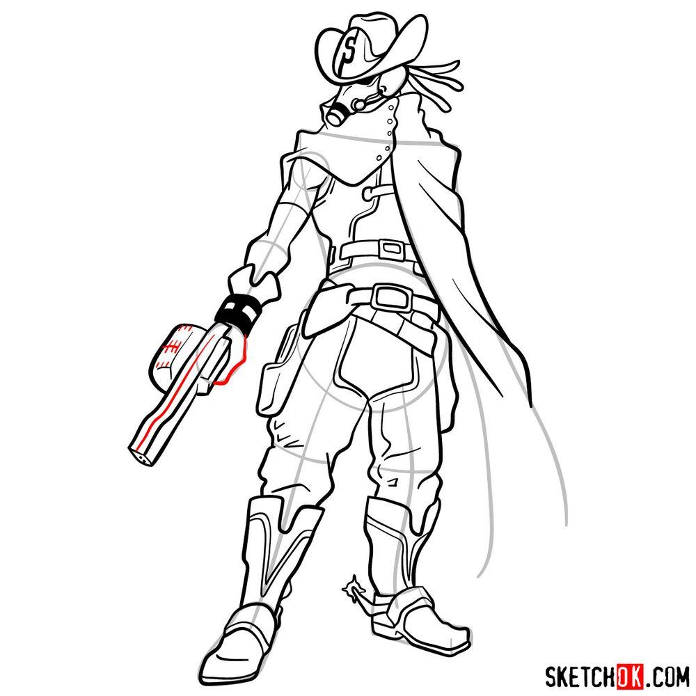 How to draw Snipe | My Hero Academia - step 16